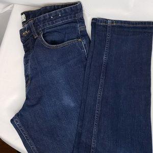 TOPMAN Stretch Slim Jeans Size 32R Dark Wash.